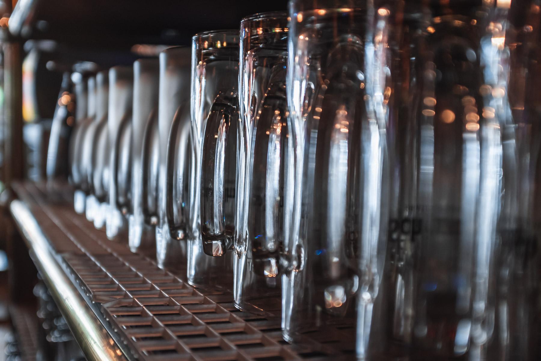 Biergläser im Detail